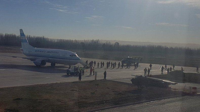 Macri llegó a Neuquén y ya se traslada a Vaca Muerta