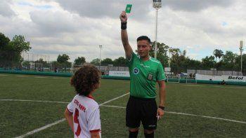 la afa saco por primera vez la tarjeta verde en un partido oficial