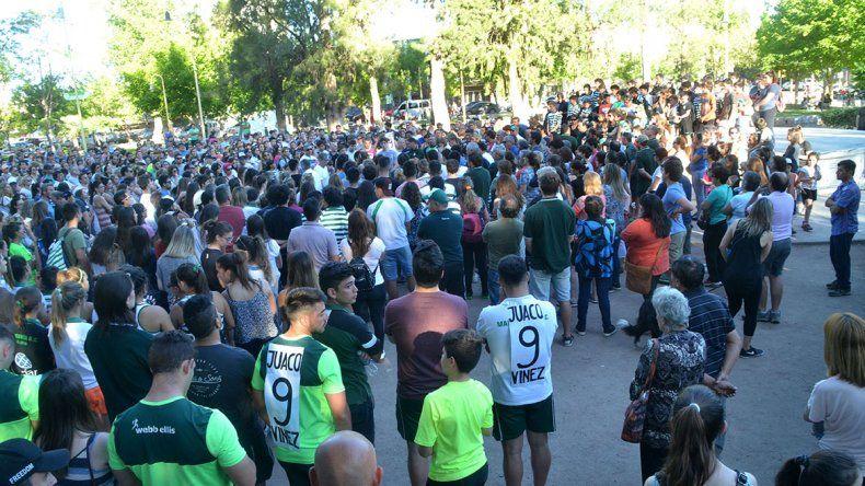 Una multitud reclamó justicia por Joaquín, el rugbier asesinado en un violento robo