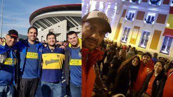 La procesión de los hinchas neuquinos al Bernabéu