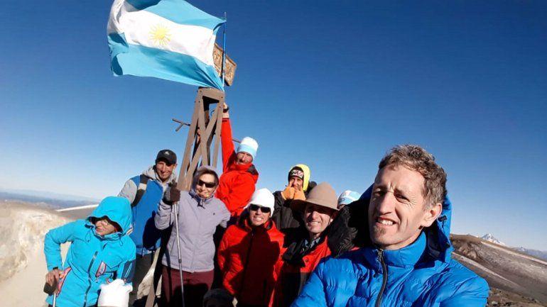Ocho hermanos hicieron cumbre en el Copahue