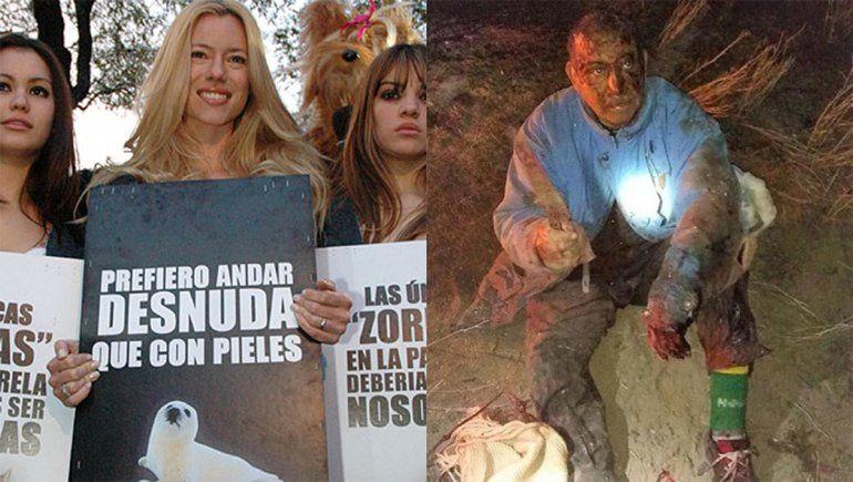 Nicole Neumann criticó al campesino de Río Negro que peleó contra un puma para salvar a su perro