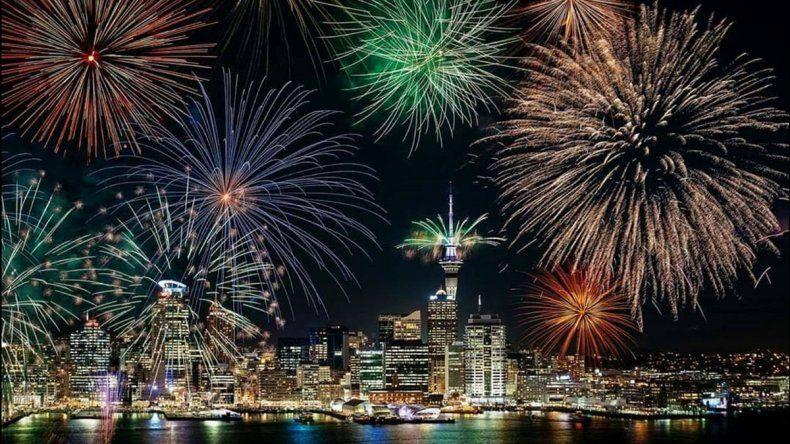 En Oceanía ya celebran la llegada del Año Nuevo