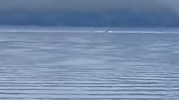 ¿Es el Nahuelito? Una extraña figura fue vista en el lago Nahuel Huapi