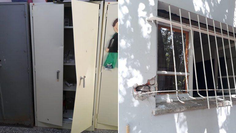 Robo y destrozos en la escuela de Cuatro Esquinas de Cipo
