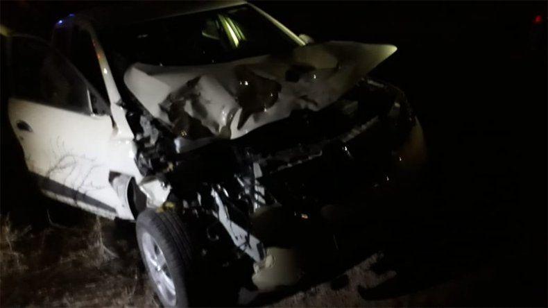 Un animal suelto provocó un accidente en la Ruta 22
