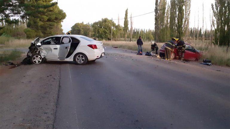 Una joven murió en un tremendo choque en Ruta 7