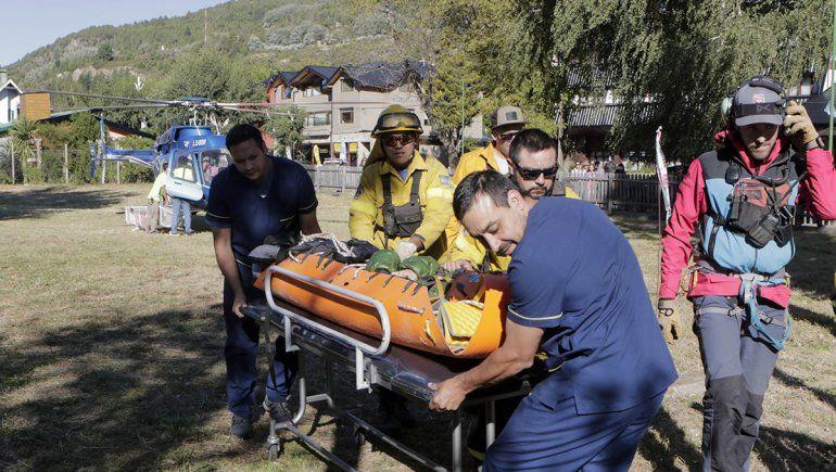 Volcán Lanín: rescataron a una cipoleña que sufrió un accidente