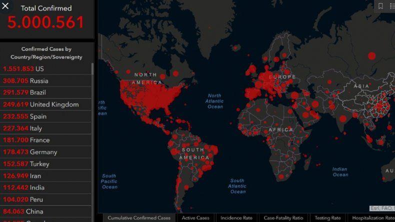 El Covid-19 alcanzó los 5 millones de contagios en todo el mundo