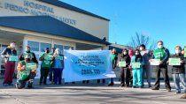 protestas en todos los hospitales para que paguen el bono