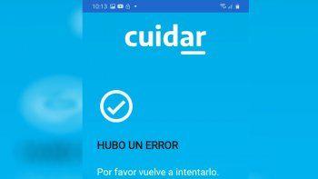 Continúan las fallas en la app Cuidar y recomiendan tramitar permisos por la web