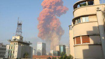 La explosión en Beirut tendría origen en un depósito de pirotecnia.