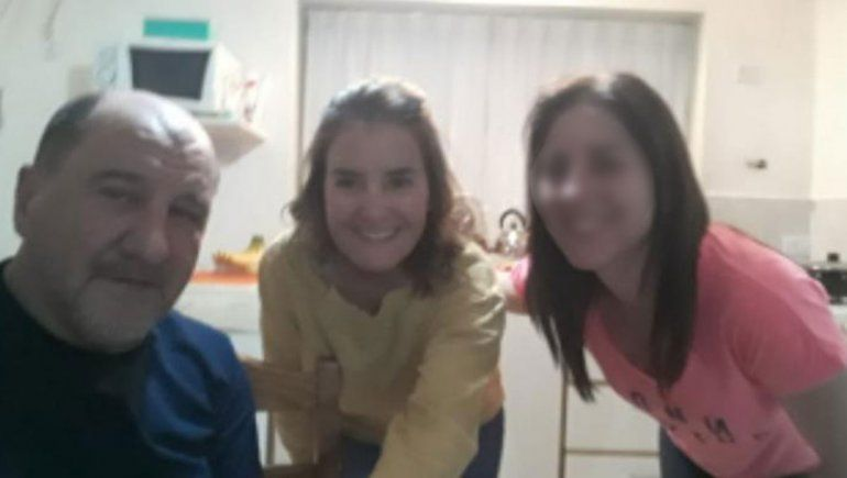 El asesino Fabián Lucini junto a su víctima María Marta Toledo y su pareja Juliana.