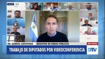 Diputados: Katopodis destacó la respuesta del Ministerio de Obras Públicas ante la pandemia