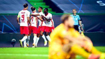 Leipzig sacó de la Champions al Atlético del Cholo en el final