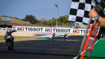 Maverick Viñales (Yamaha) festejó en el Gran Premio de Emilia-Romagna de Moto GP en el circuito de Misano y consumó su octavo éxito en la categoría.
