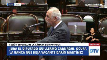 La Cámara de Diputados acepta la renuncia de Martínez