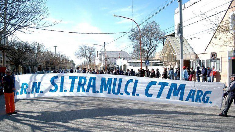 El gremio Sitramuci ha encabezado varias protestas a lo largo de la gestión de Abel Baratti