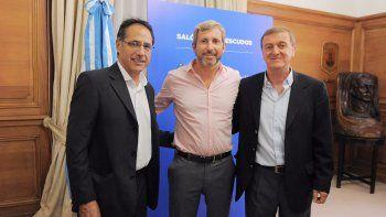 El intendente Tortoriello se reunió en Buenos Aires con el ministro del Interior Frigerio y con el diputado Wisky.