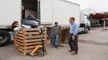 Tortoriello visitó y colaboró con el cargamento en Corpofrut