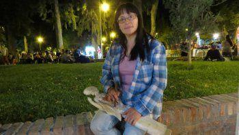 Noelia Igor es artesana y perdió todo su material en el incendio