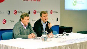 Jorge Ulovec y Aníbal Tortoriello en la presentación de las iniciativas.