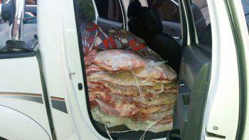 Otro decomiso de una carga clandestina de carne con destino al valle.