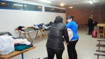 Las donaciones llegaron en gran cantidad a todos los puntos de acopio de clubes, policías y el Municipio.