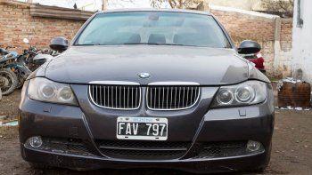 El auto secuestrado quedó a disposición de las autoridades judiciales.