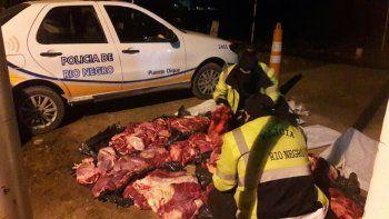 Decomisaron 700 kilos de carne vacuna sin hueso en Catriel