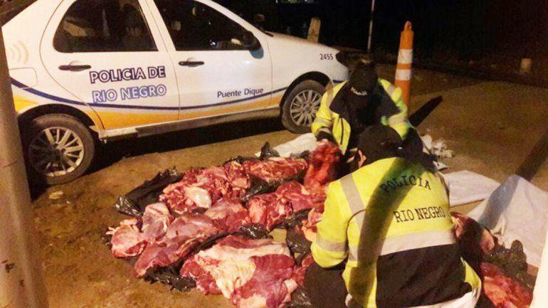 La Caminera frena tantos intentos por entrar carne sin permiso como lo hace el personal de la barrera sanitaria.