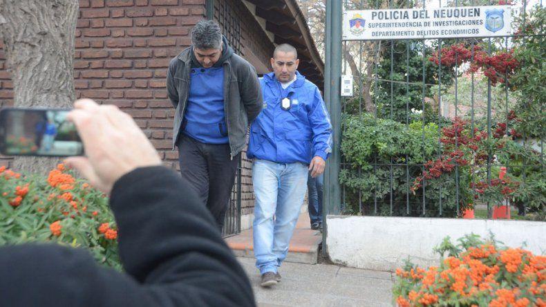 Pequi Bastonero permaneció preso en Neuquén sólo un par de horas.