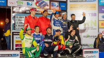 Los pilotos del Argentino, con Cancio, Coyote Villagra, Rauly Martínez y Ligato, como candidatos de la Manzana.