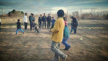 Jugadores de Cipo pasaron la tarde con los chicos de Martín Fierro
