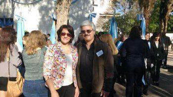 El director del CEM 102 de Cipolletti, Gustavo Fernández, participó del acto nacional que se realizó ayer en San Juan, junto a la ministra Mónica Silva.