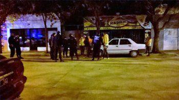 El operativo de tránsito se realizó en calle Belgrano, a metros de Roca.