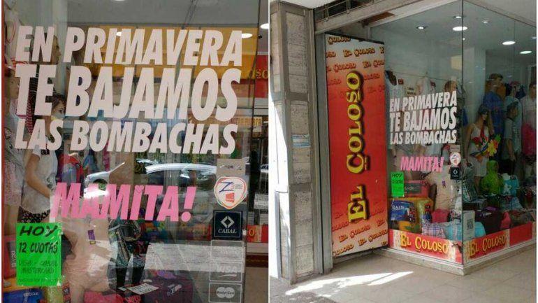 Indignación en Roca por una publicidad machista en un comercio