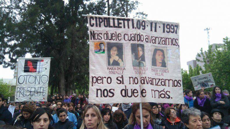 Cipolletti gritó #VivasNosQueremos
