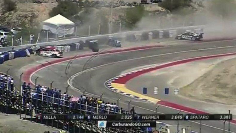 Así quedaron los autos de Urcera y Canapino contr el muro