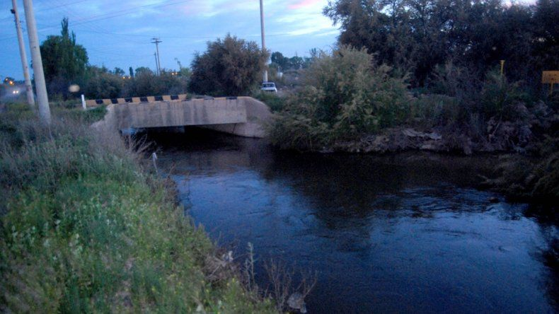 El canal de desagüe P2