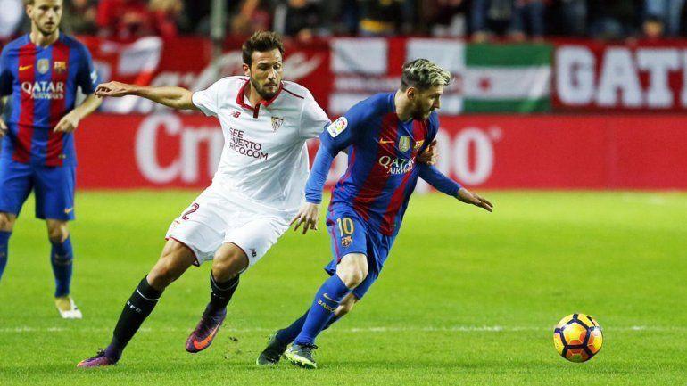 Messi la rompió frente al Sevilla.