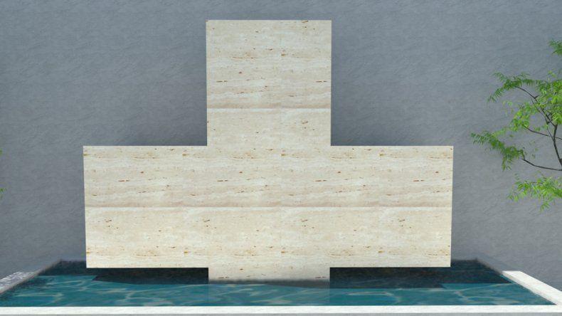 El cinerario que se proyecta realizar en Ferri tendrá forma de Cruz Sagrada.