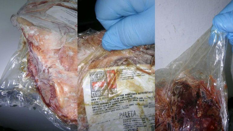 Decomisaron 130 kilos de carne podrida en el Centro Infantil del Anai Mapu