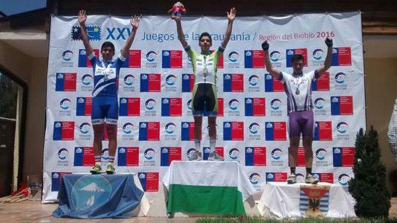 Orocito en lo más alto del ciclismo en los Juegos de la Araucanía.