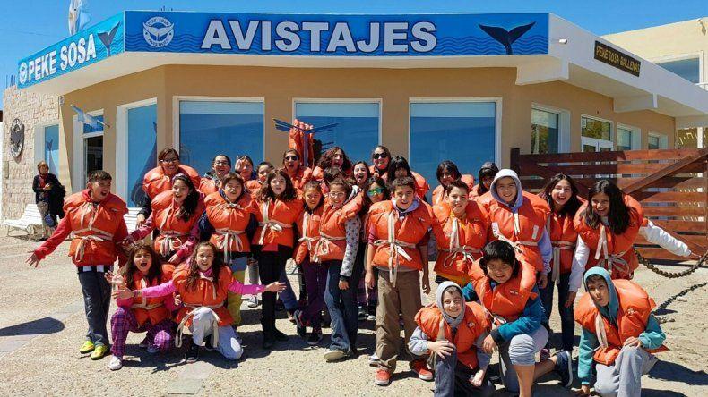 Los chicos de la Escuela 33 realizaron un largo viaje por la región patagónica.
