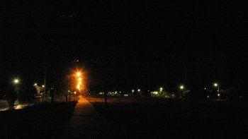 El centro y muchos barrios quedaron a oscuras
