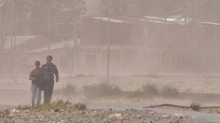 Anticipan fuertes vientos para la tarde del sábado en el Alto Valle