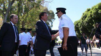 El gobernador encabezó el jueves la celebración policial.