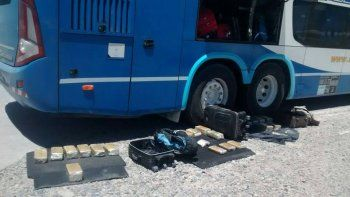 Se secuestraron 40 kilogramos de marihuana dentro de una valija en un micro en la Ruta 6