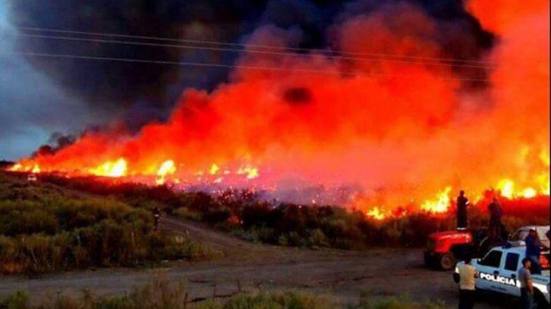 Se reactivaron los incendios en el Valle Medio